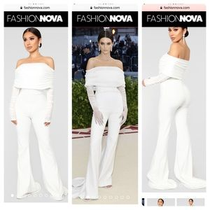 🕊 NEW Kendall Jenner white jumpsuit from FN